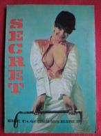 SECRET  N° 14 Editions SNEC 1970  Petit Format  Hallyday Vartan Bon état+ - Petit Format