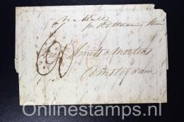 Nederland, 1846 Bradford UK Naar Amsterdam, Stempel Engeland Over Rotterdam, Fragiel - Niederlande