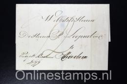 Nederland, 1823 Zeebrief Den Helder Naar Schiedam (geen Inhoud) - Niederlande