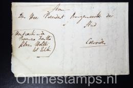 Nederland, 1821 Complete Brief Over Jachtakten Echten Naar Coevorden - Niederlande