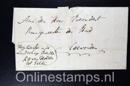 Nederland, 1816 Complete Brief Over Jachtakten Landschap Drenthe Echten Naar Coevorden  Fragiel - Niederlande