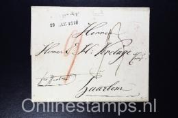 Switserland, Complete Letter 1816 Zurich To Haarlem - The Netherlands, - Svizzera