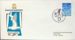 DV2-35b NETHERLANDS 1980 COVER 50jr RIJKSLUCHTVAARTDIENST. - Postal History