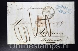 Italy, Complete Letter 1863 Genova To Arnhem Netherlands, Nice Cancels - Italië