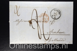 Italy, Complete Letter 1861 Turin Via Sardaigne  To  Arnhem Netherlands, 2nd Letter Inside Ministere Des Finance! - Storia Postale