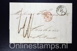 Italy, Complete Letter 1860 Genova Genua, Sardaigne  To  Arnhem Netherlands, - Parma