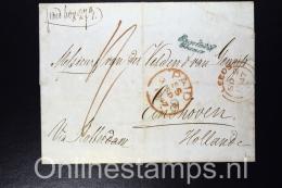 Great Brittain , Complete Letter 1847 Leeds Via Rotterdam To Eindhoven Netherlands, Nice Cancels - Poststempel