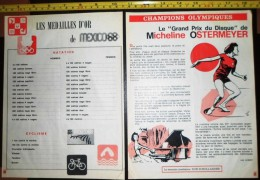 DOCUMENT CONCERNANT  MICHELINE OSTERMEYER CHAMPION JEUX OLYMPIQUES JO MEXICO 1968 - Colecciones