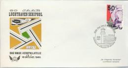 DV2-36b NETHERLANDS 1980 COVER 60 ANNI AIRPORT SCHIPHOL, AEROPHILATELIE DAY. - Postal History