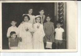 NIÑAS  COMUNION    FOTOGRAFIA TAMAÑO APROXIMADO 18X15 CM   OHL - Personas Anónimos