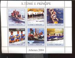 SAO TOME   1574 MINT NEVER HINGED MINI SHEET OF ROWING ( - Barcos