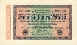 Deutschland, Germany - 20000 Mark, Reichsbanknote, Ro. 84 G, ( Serie PB ) XF, 1923 ! - 1918-1933: Weimarer Republik