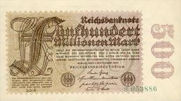 Deutschland, Germany - 500 Mio. Mark, Reichsbanknote, Ro. 109 D,  ( Serie SS )  XF ( II ), 1923 ! - [ 3] 1918-1933 : Weimar Republic