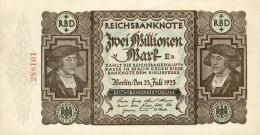 Deutschland, Germany - 2 Mio. Mark, Reichsbanknote, Ro. 89 B ,  ( Serie E/R ) XF ( II ), 1923 ! - 2 Millionen Mark