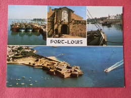 Dep 56 , Cpm PORT LOUIS , Multivues , CT.356 , Le Port De Peche Au Pied Des Remparts Et La Citadelle  (477)Recto/Verso - Port Louis