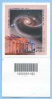 2012 CODICE BARRE 1483 ASTRONOMIA CAPODIMONTE OSSERVATORIO E. 0,60 PERFETTO NUOVO SPLENDIDO - 6. 1946-.. Repubblica