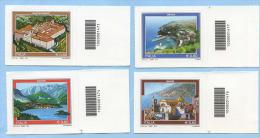 2012 CODICE BARRE 1474/7 TURISTICA  4 VALORI E. 0,60 SERIE COMPLETA PERFETTI NUOVI SPLENDIDI - Varietà E Curiosità