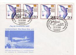 "GERMANIA - Nordenham ""Tag Der Briefmarke 1988"" Landesverband  Elbe-Weser-Ems E.V. (AG156) - Brieven En Documenten"