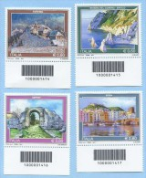 2011 CODICE BARRE 1414/7 TURISTICA  4 VALORI E. 0,60 SERIE COMPLETA PERFETTI NUOVI SPLENDIDI - Varietà E Curiosità