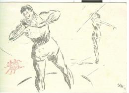 CAMPIONATI ITALIANI ATLETICA LEGGERA, 1956, ANNULLO SPECIALE SU CARTOLINA DEDICATA, - Atletica
