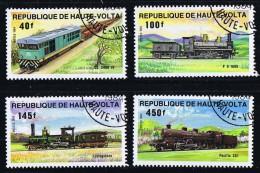 HAUTE-VOLTA  1984  Locomotives   Oblitérés - Haute-Volta (1958-1984)
