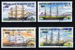 HAUTE-VOLTA  1984  Voiliers 3 Mats    Oblitérés - Haute-Volta (1958-1984)