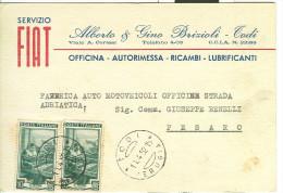 BRIZIOLI,TODI, PERUGIA, CARTOLINA COMMERCIALE VIAGGIATA  1952, TODI - PERUGIA, - Perugia