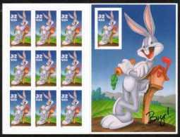 USA 1997 Bugs Bunny Sheet Of 10   $3.20 MNH SC 3137sp YV C2605 MI SH2829 SG MS3300 - Sheets