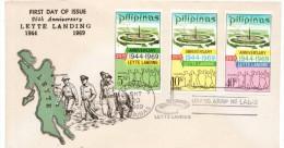 "FILIPPINE, PHILIPPINES FDC 1969  ""25th Anniversary LEYTE LANDING "" (AG159) - Filippine"