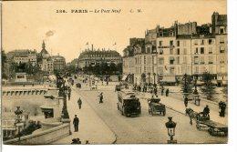 75001 PARIS - Le Pont Neuf - Autobus à Plateforme - Vue Vers La Samaritaine Et La Belle Jardinière - Arrondissement: 01