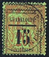 GUADELOUPE  Alphée Dubois  20 C Surchargé 15 Centimes  Yv 8 - Guadalupe (1884-1947)