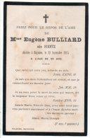 BAYONNE .PRIEZ POUR LE REPOS DE L´AME DE MADAME EUGÈNE BULLIARD NÉE BIENTZ DÉCÉDÉE À BAYONNE LE 22/09/1915 - Réf. N°6214 - Décès