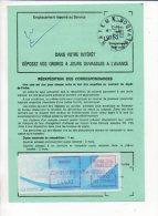 1989 Ordre De Réexpédition Définitive 755 B De Bayeux : Affranchissement Vignette Distributeur Comète De 50,00 Frs. - 1988 «Comète»