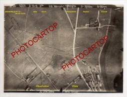 WERVIK EST-Photo Aerienne Allemande-POSITIONS-Escadrille Fl.13-JELKO+BREUER-3-10-18-Guerre 14-18-1WK-BELGIEN-Flandern- - Wervik