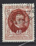 Germany (DDR) 1953  Franz Schubert  (o) Mi.404 - Usados