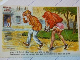 CARTE POSTALE HUMORISTIQUE - HOTEL DU PARC - DE CHAPERON JEAN - ZZZ - - Humour
