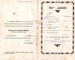 - PROGRAMME De SAINT-AMAND Cher Le 10 Juillet 1936 - Diplômes & Bulletins Scolaires