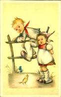 ENFANTS AVEC PETIT OISEAU N°453 AMAG - Contemporain (à Partir De 1950)