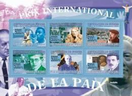 gu0873 Guinea 2008 PRIZ INTERNATIONAL OF PEACE s/s Pele Soccer P.Picasso P.Neruda D.Shostakovich B.Bartok C.Chaplin