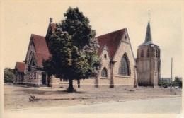 Houthalen   Kerk;  (Uit Plakboek) Prachtige Gekleurde Kaart! - Houthalen-Helchteren