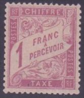 """FRANCE TIMBRE TAXE N° 39 \""""TYPE DUVAL1 FRANC  ROSE S. PAILLE\"""" NEUF Xx TTB SIGNE - Sin Clasificación"""