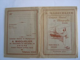 Pochette Photo 1932 A. MASQUELIER Comptoir Général De Photographie Anvers Antwerpen - Matériel & Accessoires