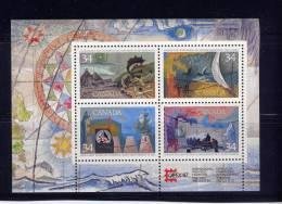 Canada, 1986, # 1107a, Ss Exploration Of Canada # 1,   MNH - Blocs-feuillets