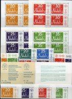 UPU-Kongreß 1974 Schweden 866/9, ER,Block 2/5,846/9CD+EK ** 14€ EXPO Stockholmia M/s Booklet Philatelic Sheet Bf Sverige - 1951-80