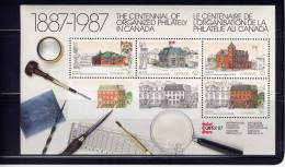 Canada #1125A, CAPEX 87: Various Post Offices Buildings, Postes Canadiennes Batiment ,   SS MNH   1987 - Blocs-feuillets
