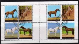 Naturschutz Pferdezucht 1987 Korea 2837/0 Im 8-Kleinbogen O 12€ Pferde WWF Selten Rennpferde M/s Horse Sheetlet Bf Corea - W.W.F.