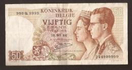 België 50 Frank 14-5- 1966 -NO: 980 Q 9999 - [ 6] Staatskas