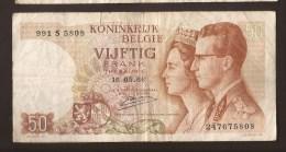 België 50 Frank 14-5- 1966 -NO: 991 S 5808 - [ 6] Staatskas