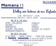 BUVARD BUVARDS PARIS RUE DE L'UNIVERSITÉ MAMANS VEILLEZ AUX LECTURES DE VOS ENFANTS - Buvards, Protège-cahiers Illustrés
