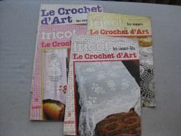 Tout Sur Le Tricot : Le Crochet D´art (4 Livres) & - Laine